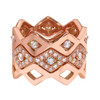 Lucia Stacking Bands in rose gold