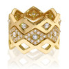 Lucia Stacking bands in yellow gold