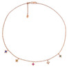 Regalo dangle Choker Rose Gold Gem set