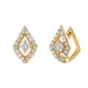 Lucia Huggies with Diamonds in 14K Yellow Gold