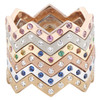 Lucia Diamond and Colored Gemstone Bands