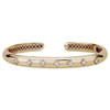 GiGi Classic Hinged Cuff with Diamonds in 14K Yellow Gold