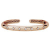 GiGi Classic Hinged Cuff with Diamonds in 14K Rose Gold