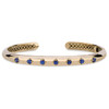 GiGi Classic Hinged Cuff with Blue Sapphire in 14K Yellow Gold