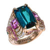 Mermaid Ring with Indicolite Tourmaline