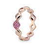 Lucia Pinky Stacking Ring with Pink Sapphire (vertical)