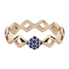 Lucia Pinky Stacking Ring with Blue Sapphire