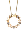 Lucia Circle Pendant Yellow Gold