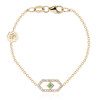 Gianna chain bracelet with green sapphire
