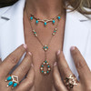 Lucia Turquoise and Diamond Statement Necklace