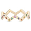 Lucia Rainbow Sapphire Band with polished finish
