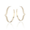 Olimpia Diamond Hoops in 14K Yellow Gold