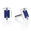 Marcello Cuff Links with Blue Sapphires and Lapis Lazuli in Sterling Silver