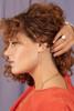 Lucia Threader Earrings with Diamonds