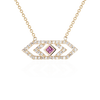 Gianna chevron medium pendant with pink sapphire