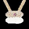 Gianna chevron medium pendant with pink sapphire