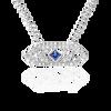 Gianna chevron medium pendant with blue sapphire