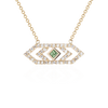 Gianna chevron medium pendant with green sapphire