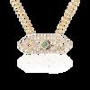 Gianna chevron medium pendant with green sapphire