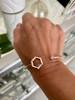 Favo Cuff Bracelet with diamonds, sapphire and garnet