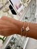 Lucia  Diamond Three Station Bracelet