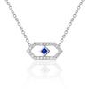 Gianna Petite Chevron Pendant with Blue Sapphire