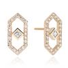 Gianna Diamond  Chevron Stud Earring