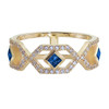 Gianna Half Eternity Band with Blue Sapphire