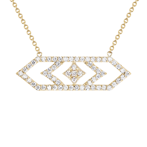 Gianna Pendant in 14K Yellow Gold with Diamonds