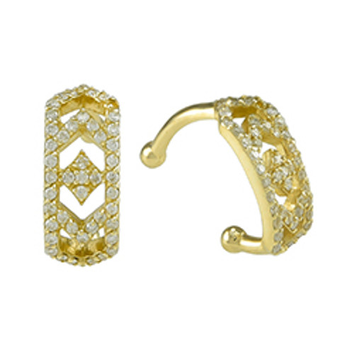Gianna Ear Cuff in 14k Yellow Gold and Diamonds