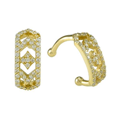 Gianna Ear Cuff in 14k Yellow Gold and Diamonds