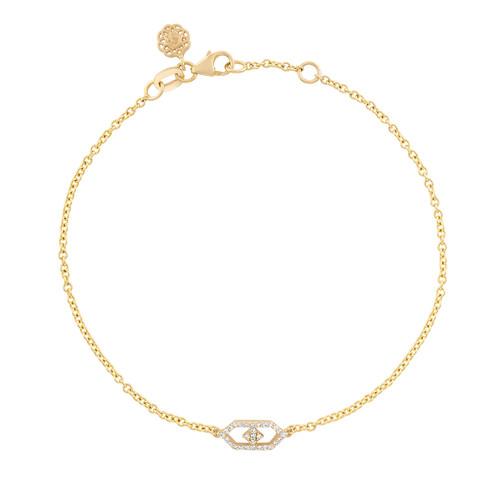 Gianna Petite Chain Bracelet in 14K Yellow Gold and Diamonds