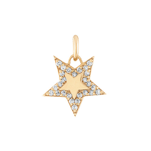 GiGi's Favorite Star Charm in 14K Yellow Gold with Diamonds