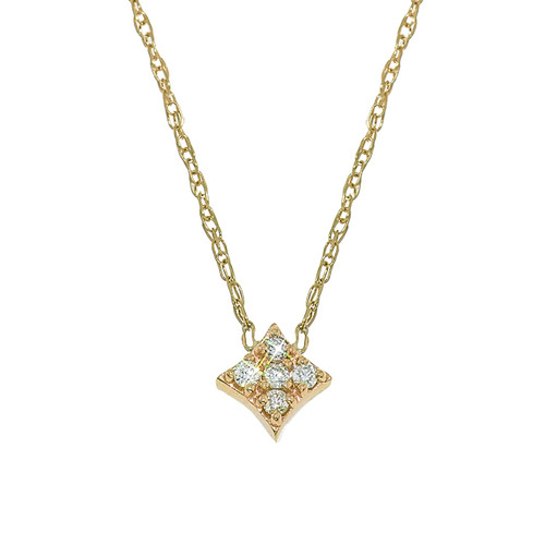 Mini Gianna Diamond Pendant in Yellow Gold