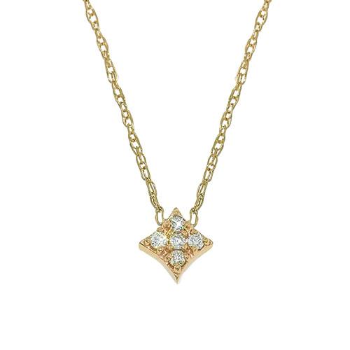 Essentials Pendant with Diamonds