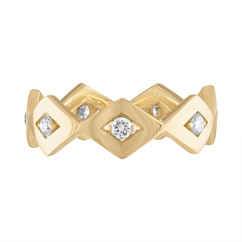 Lucia Classic Eternity Band in Yellow Gold