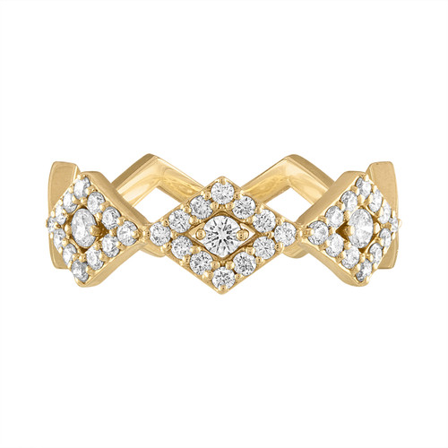 Lucia Classic Pave Band in Yellow Gold