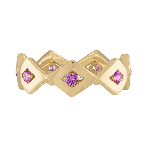 Lucia Eternity Band with Pink Sapphire