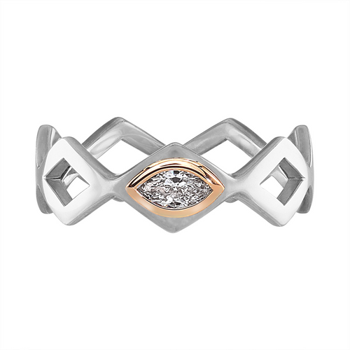 Lucia Single Stone Marquise Stacking Band