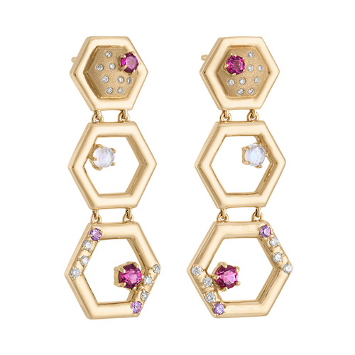 Favo 3 Tier Earrings
