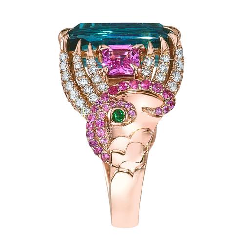 Mermaid Ring with Indicolite Tourmaline