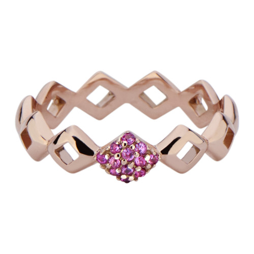 Lucia Pinky Stacking Ring with Pink Sapphire