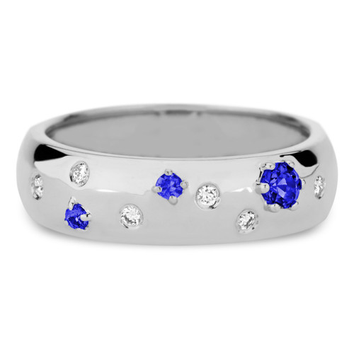 Delicato 6 mm Band with Blue sapphires