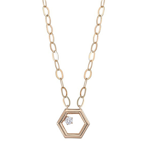 Favo Floating Diamond Pendant
