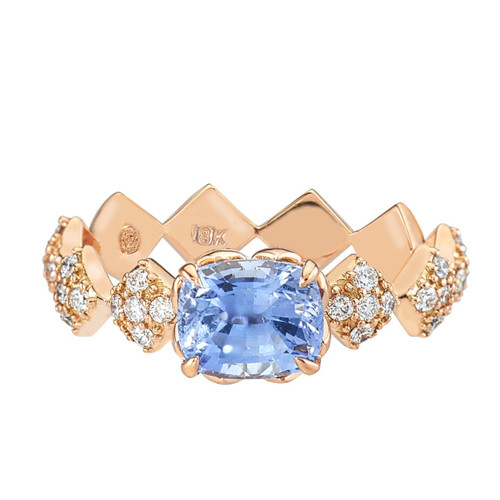 Julia Engagement Ring with Blue Sapphire