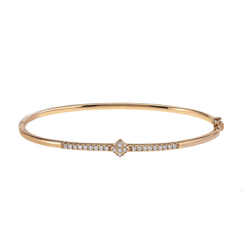 Lucia Diamond Bangle in 14K Yellow Gold