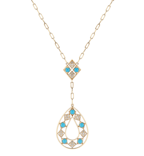Lucia Turquoise & Diamond Statement Necklace