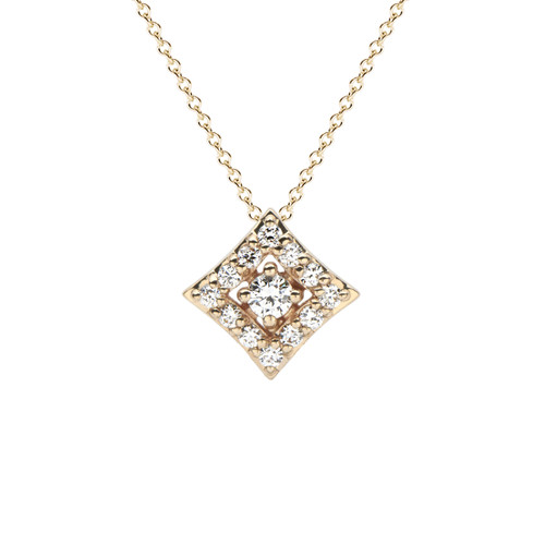Regalo Diamond Pendant in 14K Yellow Gold
