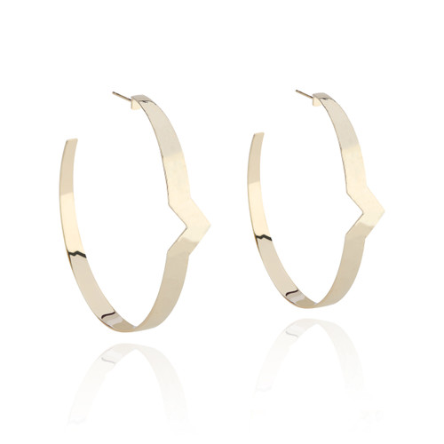 Olimpia Large Hoop Earring in 14K Yellow Gold