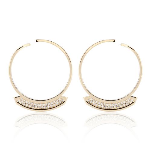 Stellara Diamond Hoop Earrings